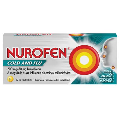 Nurofen Cold and Flu 200 mg/30 mg filmtabletta 12x