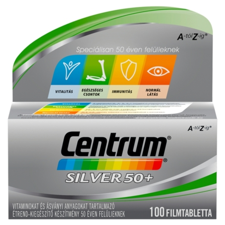 Centrum® Silver 50+ A-tól Z-ig® multivitamin 100x