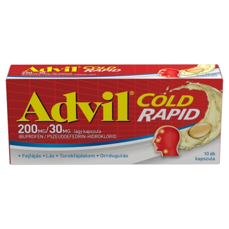 Advil® Cold Rapid 200 mg/30 mg lágy kapszula 10x