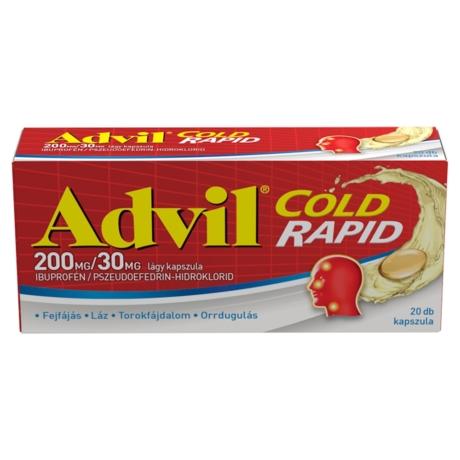 Advil® Cold Rapid 200 mg/30 mg lágy kapszula 20x