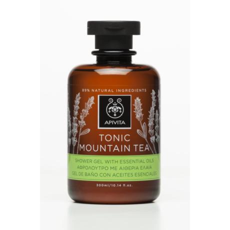 APIVITA Tusfürdő pezsdítő hegyi teával és illóolajokkal 300ml