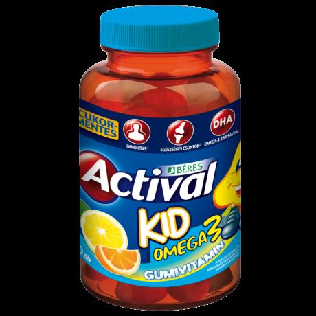 Béres Actival Kid Omega3 Gumivitamin gumitabletta 30x