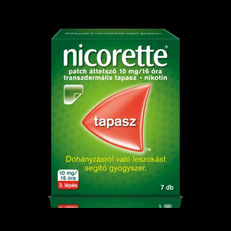 Nicorette® patch áttetsző 10 mg/16 óra transzdermális tapasz 7x