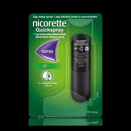 Nicorette® Quickspray 1 mg/adag szájnyálkahártyán alkalmazott oldatos spray 1x
