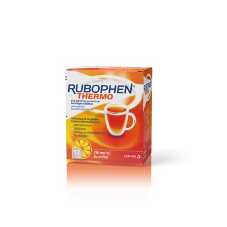 Rubophen Thermo 650 mg/10 mg granulátum belsőleges oldathoz citrom 12x