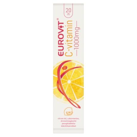 Eurovit C-vitamin 1000 mg citrom ízű, cukormentes pezsgőtabletta 20x