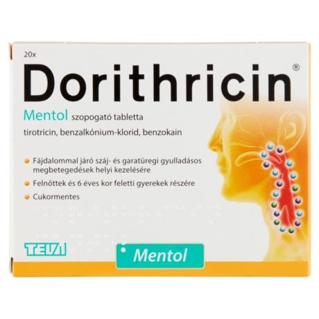 Dorithricin szopogató tabletta - mentolos 20x
