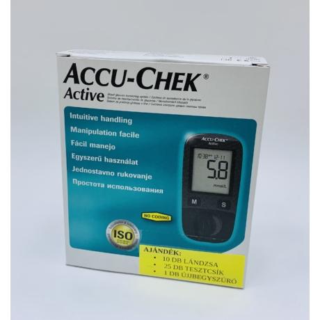 AccuChek Active vércukorszintmérő készülék + 25 db ajándék tesztcsík
