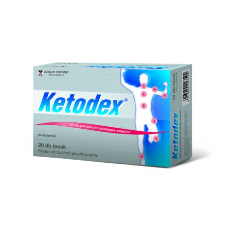 Ketodex® 25 mg granulátum belsőleges oldathoz 20x