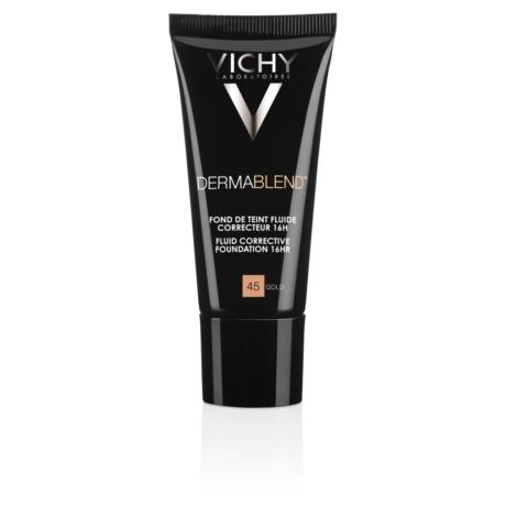 Vichy Dermablend korrekciós alapozó fluid 16H gold 45 SPF 35 30 ml