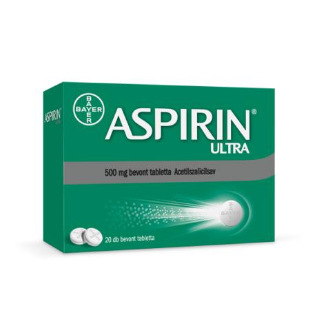 Aspirin® Ultra 500 mg bevont tabletta 20x