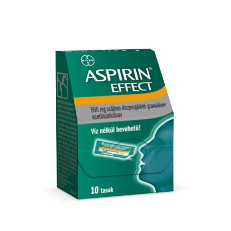 Aspirin® Effect 500 mg szájban diszpergálódó granulátum 10x