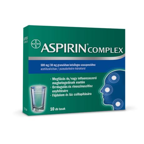 Aspirin Complex 500 mg/30 mg granulátum belsőleges szuszpenzióhoz 10x