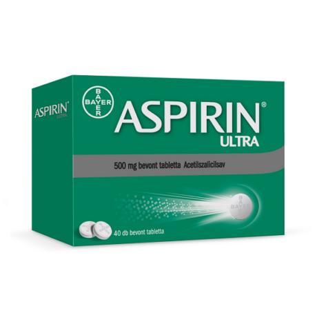 Aspirin® Ultra 500 mg bevont tabletta 40x