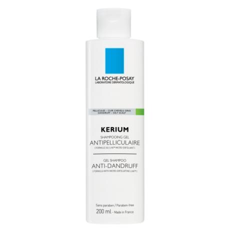 La Roche-Posay Kerium gél-sampon korpásodás ellen, zsíros fejbőrre 200 ml