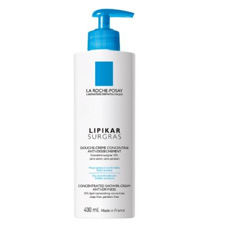 La Roche-Posay Lipikar Surgras koncentrált tusoló krém bőrszárazság ellen 400 ml