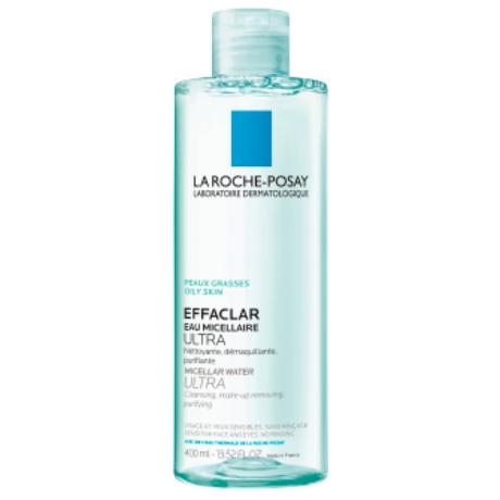La Roche Posay Effaclar Ultra micellás arctisztító zsíros, érzékeny arcbőrre és szemkörnyékre 400 ml