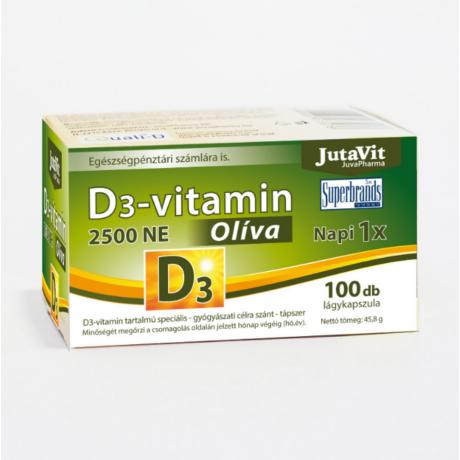 JutaVit D3-vitamin 2500NE Olíva 100x