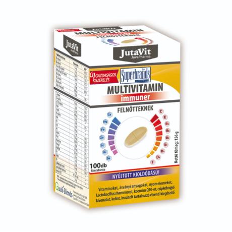 JutaVit Multivitamin felnőtteknek IMMUNKOMPLEX nyújtott kioldódással 100x
