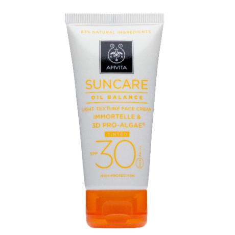 APIVITA SUN Mattító arckrém színezett SPF30 50ml
